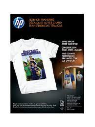 Hp Iron On T Shirt Transfers 8 12 X 11 Black Pack Of 10 Sheets Office Depot