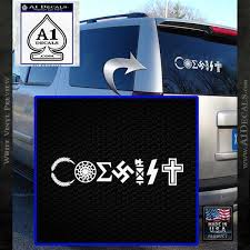 Nazi Coexist Decal Sticker Irony A1 Decals