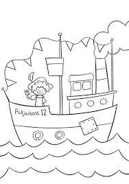 Kleurplaat Stoomboot Kleurplaten Sinterklaas Krijtstift