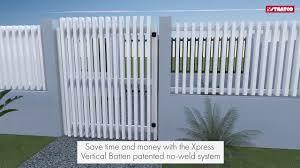 Xpress Vertical Batten Gates Stratco Fencing Sanctuary Youtube