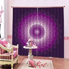 Blackout Curtains For Kids Room Purple Curtains 3d Window Curtain Luxury Bedroom Drapes Blackout Curtain Curtains Aliexpress
