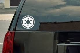 Star Wars Galactic Empire Vinyl Decal White Window Sticker Amazon Automotive Vinyl Decals Vinyl Decal Stickers Vinyl