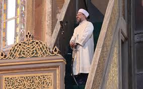 Ayasofya'da Ali Erbaş kılıçla hutbeye çıktı bunun çok özel anlamı ...