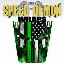 Punisher American Flag Green Line Jeep Hood Wrap Jk 2007 2017