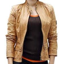 missy peregrym brown leather jacket