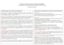 DOC) A CASE FOR CASE INSTRUCTION OF ENGINEERING ETHICS | Diana ...