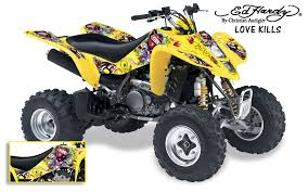 Ed Hardy Quad Atv Sticker Decal Graphic Kit Suzuki