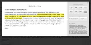 a quoi sert l argent donné à wikipédia