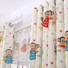 Cute Cartoon Monkey Curtains For Nursery Colorful Drapes For Children Room