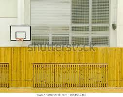Basketball Hoop On Wall Empty Basketball Stock Photo Edit Now 1064539346