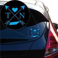 Tennessee Love Cross Arrow State Tn Decal Sticker For Car Window Lapt Yoonek Graphics
