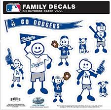 Amazon Com Siskiyou Mlb Los Angeles Dodgers Large Family Decal Set Sports Outdoors