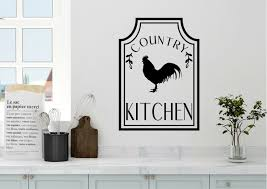 Gracie Oaks Country Kitchen Rooster Farm Vinyl Wall Decal Wayfair
