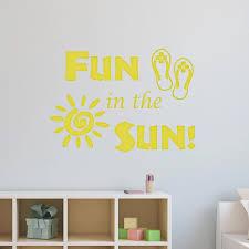 Vwaq Fun In The Sun Sticker Fun Wall Decals Quotes Sun Vinyl Wall Art Walmart Com Walmart Com