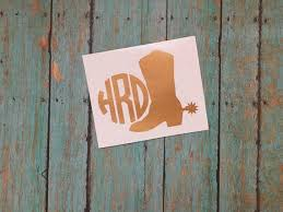 Boots And Spurs Decal Cowboy Boot Decal Western Monogram Etsy