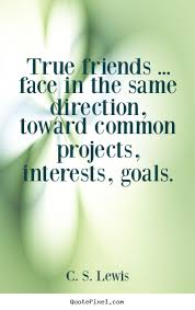 friendship quotes true friends face in the same direction