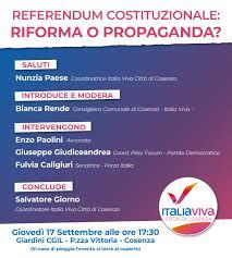 Referendum Costituzionale: Riforma o Propaganda? - Italia Viva
