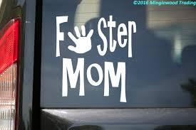 Foster Mom Vinyl Decal Sticker 5 X 5 Child Minglewood Trading