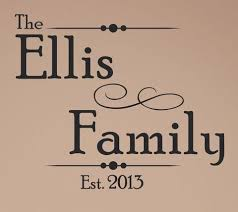 Personalized Family Name Decal 0018 Family Monogram Family Establi Wall Decal Studios Com