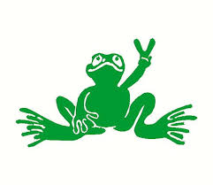 3 5 X 5 Peace Frog Wall Design Quote Art Home Decor Sticker Decal For House Office Car Truck Bumper Cartoon Styles Peace Frog Vinyl Decal Stickers