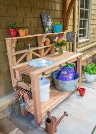 garden potting bench plans ideas
