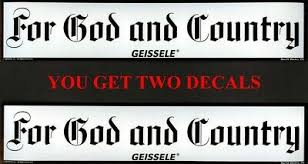 Two 2 Geissele Shot Show 2019 For God And Country Bumper Sticker Decal 11 3 95 Picclick