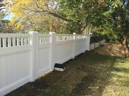 Pvc White Privacy Lattice Fence 2 34m Panel Various Heights 100 Australian Ebay