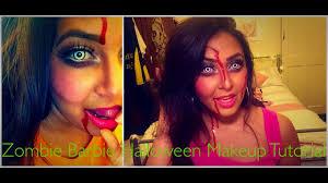 zombie barbie halloween makeup tutorial