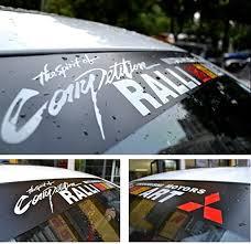 Front Windshield Banner Decal Vinyl Car Stickers For Mitsubishi Ralli Art Emblem Archives Statelegals Staradvertiser Com