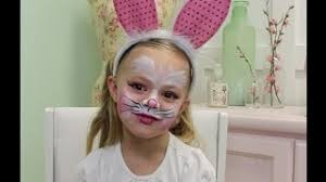 easter bunny makeup body paintng tutorial