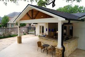 gable roof patio cover in houston in