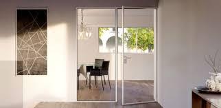 glass partition walls and aluminium frames