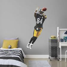 Antonio Brown Life Size Officially Licensed Nfl Removable Wall Decal Fathead Wall Decal Football Bedroom Boy Sports Bedroom Steelers Bedroom
