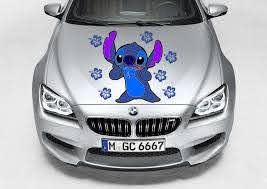 Stitch Hibiscus Flower Car Truck Decal Graphic Vinyl Hood Side Ebay Flower Car Truck Decals Cars Trucks