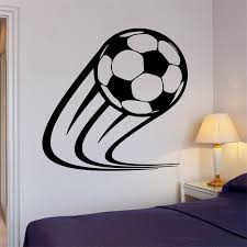 Wall Decal Soccer Kick Football Ball Sport Decor For Living Room Decoration For Living Room Wall Decalsdecoration For Room Aliexpress