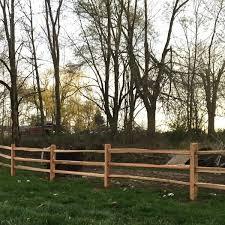 3 Hole Cedar Split Rail Fence Posts Homestead Timbers