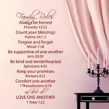 Family Rules Wall Decal Quote Love One Another Bible Verses Bedroom Decor Ky69 Ebay