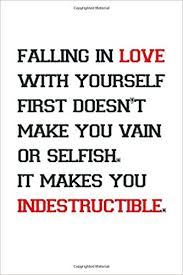 falling in love yourself inspirational notebook