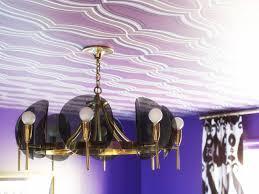 how to hang wallpaper on the ceiling