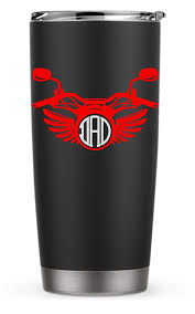 Amazon Com Harley Motorcycle Wings Monogram Decal Sticker For Laptop School Phone Car Yeti Rtic Tumbler Or Cup Handmade