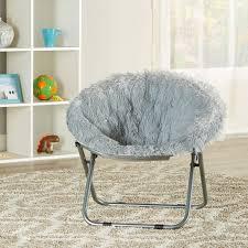 Mainstays Blair Plush Faux Fur Kids Saucer Chair Multiple Colors Walmart Com Walmart Com