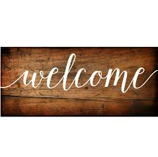 Welcome Sign Vinyl Decal Diy Wood Signs Welcome To Our Wedding Sign Decal