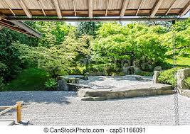 traditional japanese zen garden trees