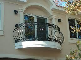 Blum Black Iron Balcony Fence Design Half Oval House Plans 40055