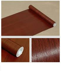 Self Adhesive Mahogany Wood Grain Contact Paper Covering For Kitchen Cabinets Table Door Desk Shelf Liner Contact Paper Adhesive Vinyl