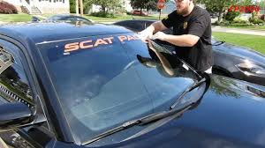 Dodge Charger R T Scat Pack Srt Windshield Vinyl Decal Installation Car Wrap How To Youtube