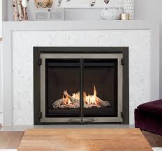 wood fireplace glass doors surrounds