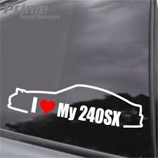 Jdm Nissan I Love My 240sx Heart Car Wall Window Vinyl Sticker Decal