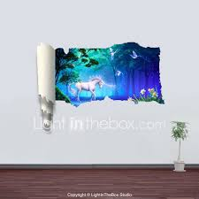 Animals Botanical Landscape Fantasy Wall Stickers 3d Wall Stickers Decorative Wall Stickers Material Removable Home Decoration Wall Decal 2689715 2020 34 19