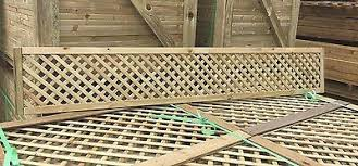 6x1 Elite Alderley Privacy Diamond Trellis 183x30 Garden Lattice Fence Topper Ebay